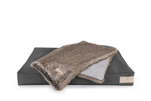 Koc EXCLUSIVE Blanket Grey/Fur