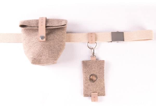 Pasek bawełniany na akcesoria Beige